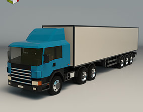Low Poly Cargo Truck 02 3D asset