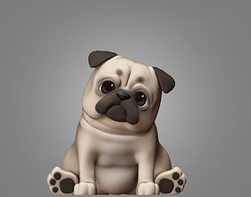 Pug Dog 3D Print model mammal