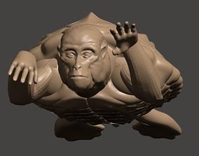 3D Printable Mutant Turtle Monkey