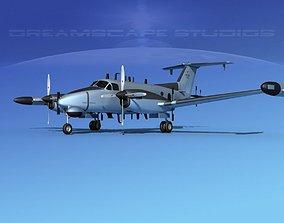 Beechcraft RC-12Q Guardrail USAF 1 3D model