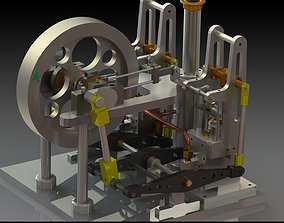 2 cylinder double sided beam steam engine 3D