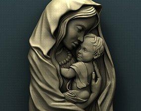 Virgin Mary 3d stl model for cnc models