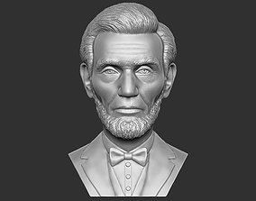 Abraham Lincoln bust 3D printing ready stl obj formats