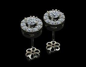 Diamond Earrings 3D printable model earrings diamond