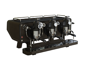 3D COFFEE MACHINE SANREMO OPERA BROWN PBR