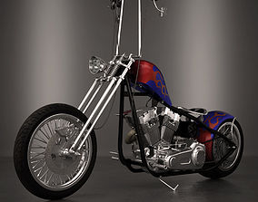 Chopper 3D model moto