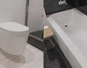 Toilet and Bathtub Model