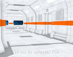 3D Aboard the spaceship - Modular corridors and crew