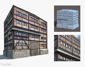 low-poly Old Factory Low Poly 3d Building