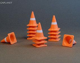 Traffic cone 3D print model