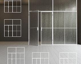 3D model Glass partition door 43