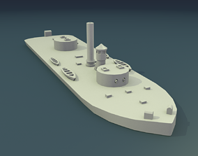 3D printable model USS Chickasaw 1864