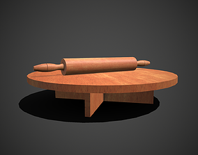 Rolling Pin and Table 3D asset