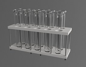 3D model test-tubes stand
