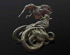 3D Hand-painted monster sculpture