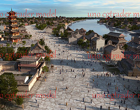 Ancient City Chi Street Model in China 3D