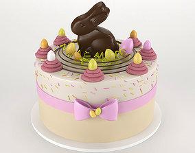 Easter cake 3D Model sweet
