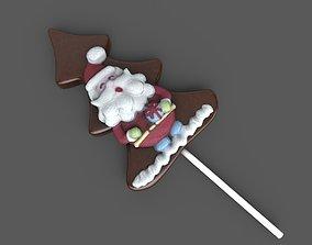 3D asset Santa Cookie