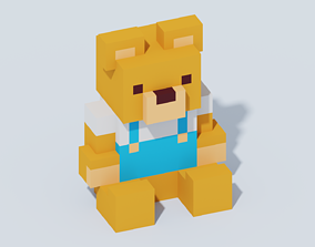 3D model Voxel Teddy Bear