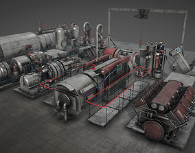 Machinery compartement devices for 3D model