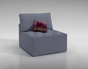 3D model Modern European Minimalist Blue Chair