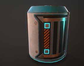 Sci-Fi Plasma Barrel Game Ready PBR 3D model