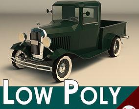 Low Poly Vintage Pickup 04 3D model
