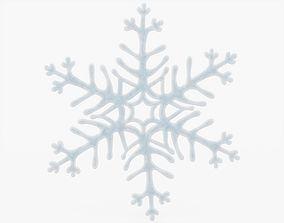 Snowflake 3D model low-poly