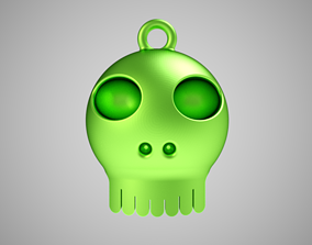 3D printable model Cute Skull Necklace