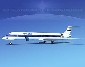 McDonnell Douglas MD-87 Finnair 3D model