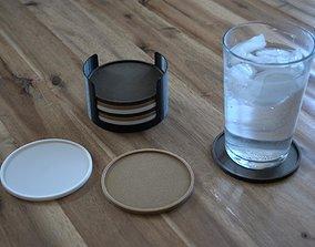 coaster Coasters and storage box 3D printable model