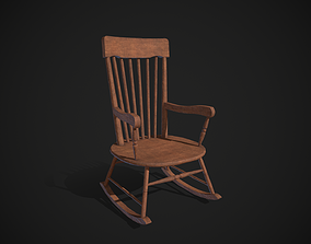 3D model game-ready Rocking Chair