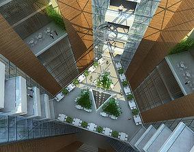 public 3D office building hall