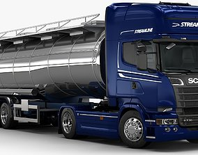 3D 2016 Scania R730 Fuel Tanker
