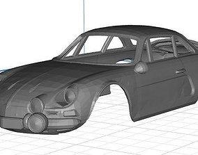 Renault Alpine Body Car Printable 3D