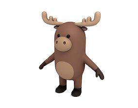 3D model Cartoon Moose