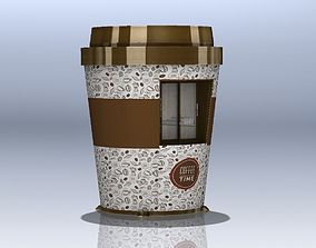 3D model Coffeeshop Booth Cup