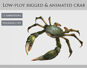 3D model crab animation