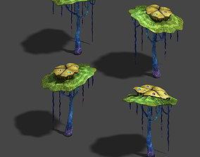 3D Water cloud Ze - plant - strange mushroom