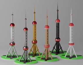 3D model realtime Shanghai Oriental Pearl TV Tower