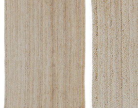 Urban Outfitters Roni Woven Jute Rug 3D