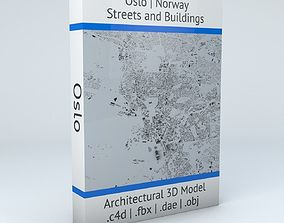 Oslo Streets and Buildings 3D model