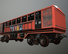 Lowpoly Train With 2 Texture 3D model