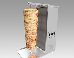 Kebab doner machine 3D model