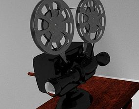 3D Projector Model rigged realtime