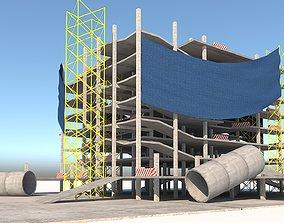 Building Construction Area and Construction 3D asset