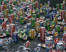 game-ready Trash Cans Garbage 24 Types - 3D Asset Kit PBR
