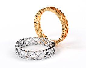 golden eternity heart wedding 3D print model