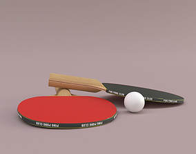Ping Pong Paddle 3D model VR / AR ready