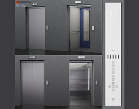 Elevator Kone MONOSPACE 500 3D model animated